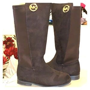Girls Michael Kors Brown Suede Emma Lily Boot
